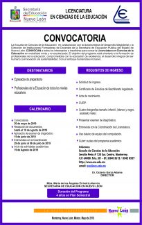 convocatoria licenciatura