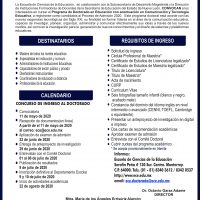 Convocatoria Doctorado
